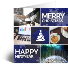 Hedendaags Kerstkaarten en Nieuwjaarskaarten online sturen NB-79