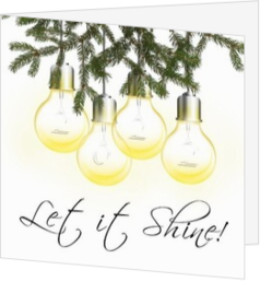 Trendy kerstkaarten - kerstkaart let it shine trendy