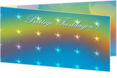Nieuwe collectie - kerstkaart christmas-stars on colorful background, ll