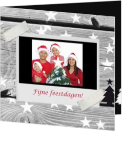 Kerstkaarten maken met eigen foto - kerstkaart own picture on background with christmaslights, vk