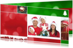 Kerstkaarten maken met eigen foto - kerstkaart own picture in christmas collage red and green, ll