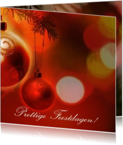 Nieuwe collectie - kerstkaart OLD_christmasballs red and gold, vk