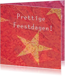 Nieuwe collectie - kerstkaart OLD_christmasstars red and orange modern, vk