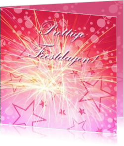 Nieuwe collectie - kerstkaart OLD_purple christmaststars on pink background, vk