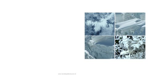 collage of winter pictures, vk Achterkant/Voorkant